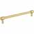 Jeffrey Alexander Hayworth Center-to-Center Cabinet Bar Pull in Brushed Gold, 7-1/2'' W