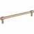 Jeffrey Alexander Hayworth Center-to-Center Cabinet Bar Pull in Satin Bronze, 7-1/2'' W