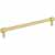 Jeffrey Alexander Hayworth Center-to-Center Cabinet Bar Pull in Brushed Gold, 8-4/5'' W