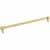 Jeffrey Alexander Hayworth Center-to-Center Cabinet Bar Pull in Brushed Gold, 12'' W