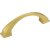 """Jeffrey Alexanders Roman Collection 4-15/16"""" W Decorative Cabinet Pull, 96 mm (3-3/4"""") Center to Center, Brushed Gold, 4-15/16"""" W x 1-7/16"""" D x 1-7/16"""" H"""