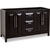 Jeffrey Alexander Cade Contempo Bathroom Double Vanity, Base Only, Black Finish