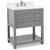 Jeffrey Alexander Astoria Modern Bathroom Vanity with Carerra White Marble Top and Bowl, Grey Finish