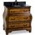 Jeffrey Alexander Walnut Bombe Vanity with Granite Top & Sink, Walnut