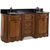 Jeffrey Alexander Tesla Bath Elements Vanity with Granite Top & Sink, Walnut Painted