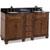 Jeffrey Alexander Compton Painted Walnut Bath Elements Double Base Vanity with Black Granite Top & Sink