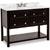 Jeffrey Alexander Adler Bath Elements Vanity with Marble Top & Sink, Black Painted