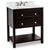 Jeffrey Alexander Adler Bath Elements Vanity with Marble Top & Sink, Black Painted