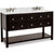 Jeffrey Alexander Adler Bath Elements Vanity with Marble Top & 2 Sinks, Black Painted