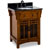 Jeffrey Alexander Westcott Wright Vanity with Granite Top & Sink, Chestnut with Mica Glass