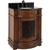 Jeffrey Alexander Abbott Bath Elements Vanity with Granite Top & Sink, Toffee Painted with Black