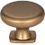 "Jeffrey Alexander 1-3/8"" Diameter Belcastel 1 Forged Look Flat Bottom Cabinet Knob in Satin Bronze"
