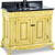 Jeffrey Alexander Antique White Ornate Bathroom Vanity with Black Granite Top & Sink