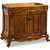 Jeffrey Alexander Burled Painted Walnut Ornate Bathroom Vanity, Base Only