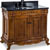 Jeffrey Alexander Burled Painted Walnut Ornate Bathroom Vanity with Black Granite Top & Sink