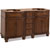 Jeffrey Alexander Compton Painted Walnut Bath Elements Double Base Vanity, Base Only