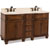 Jeffrey Alexander Compton Painted Walnut Bath Elements Double Base Vanity with Cream Marble Top & Sink