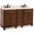Jeffrey Alexander Compton Painted Walnut Bath Elements Double Base Vanity with Cream Marble Top & Sink