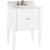 "Jeffrey Alexander Jensen Bath Elements Bathroom Vanity with White Marble Top & Sink, Painted White Finish, 28""W x 21""D x 36""H"