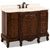 Jeffrey Alexander Clairemont Painted Nutmeg Bath Elements Vanity with Cream Marble Top & Sink