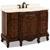Jeffrey Alexander Clairemont Painted Nutmeg Bath Elements Vanity with Cream Marble Top & Sink