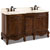 Jeffrey Alexander Clairemont Painted Nutmeg Bath Elements Double Base Vanity with Cream Marble Top & Sink