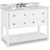 "Jeffrey Alexander Adler Bath Elements Bathroom Vanity with White Marble Top & Sink, Painted White Finish, 48""W x 22-1/2""D x 36""H"