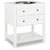 Jeffrey Alexander Adler Painted White Bath Elements Vanity, Base Only