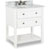 "Jeffrey Alexander Adler Bath Elements Bathroom Vanity with White Marble Top & Sink, Painted White Finish, 31""W x 22-1/2""D x 36""H"