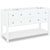 Jeffrey Alexander Adler Painted White Bath Elements Double Base Vanity, Base Only