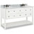 "Jeffrey Alexander Adler Bath Elements Double Base Bathroom Vanity with White Marble Top & Sink, Painted White Finish, 60""W x 22-1/2""D x 36""H"