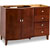 Jeffrey Alexander Mahogany Modern Bathroom Vanity, Base Only