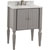 "Jeffrey Alexander Jensen Bath Elements Bathroom Vanity with White Marble Top & Sink, Grey Finish, 28""W x 21""D x 36""H"