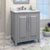 Jeffrey Alexander Cade Contempo Vanity with Carerra White Marble Top & Sink, Grey