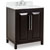 Jeffrey Alexander Cade Contempo Vanity with Carerra White Marble Top & Sink, Black