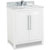 Jeffrey Alexander Cade Contempo Vanity with Carerra White Marble Top & Sink, White