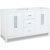 "Jeffrey Alexander Cade Contempo Bathroom Vanity, Base Only, Painted White Finish, 59""W x 21-1/2""D x 35-3/16""H"