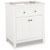 """Jeffrey Alexander Chatham Shaker Bathroom Vanity, Base Only, Painted White Finish, 29-11/16""""W x 21-7/8""""D x 35""""H"""