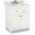 """Jeffrey Alexander Chatham Shaker Bathroom Vanity with White Marble Top & Sink, Painted White Finish, 30""""W x 22""""D x 36""""H"""