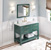 """48"""" Forest Green Base, Calacatta Top Installed"""