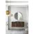 "48"" Coffee Oak / Glossy Dark Gray Front View"