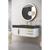 """48"""" Glossy White / Glossy Dark Gray Product View"""