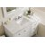 "48"" Bright White 3cm Carrara Marble Top Overhead View"