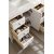"""48"""" Bright White 3cm Arctic Fall Top Overhead Drawer View"""