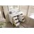 """48"""" Bright White 3cm Arctic Fall Top Opened Drawers View"""