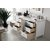 """60"""" Bright White 3cm Arctic Fall Top Door / Drawer Opened View"""
