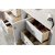 """60"""" Bright White 3cm Arctic Fall Top Side Drawer Opened View"""