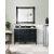 "48"" Black Onyx 3cm Carrara Marble Top Front View"