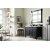 "48"" Black Onyx 3cm Carrara Marble Top Angle View"