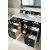 "48"" Black Onyx 3cm Carrara Marble Top Door / Drawer Opened View"